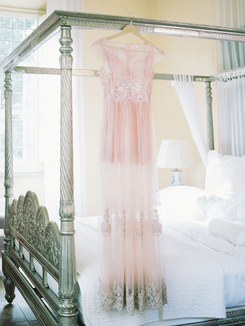 tuscany wedding villa mangiacane by julia kaptelova photography pink wedding gown