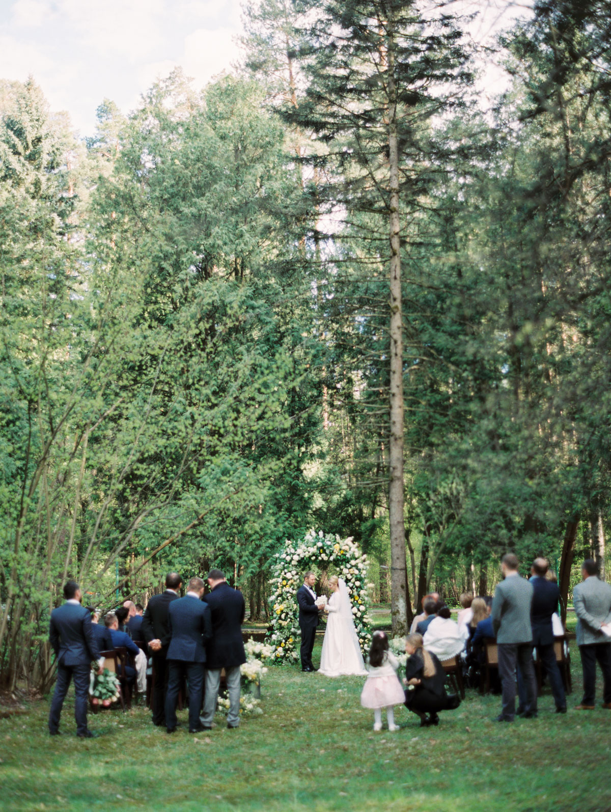 wedding ceremony in forest