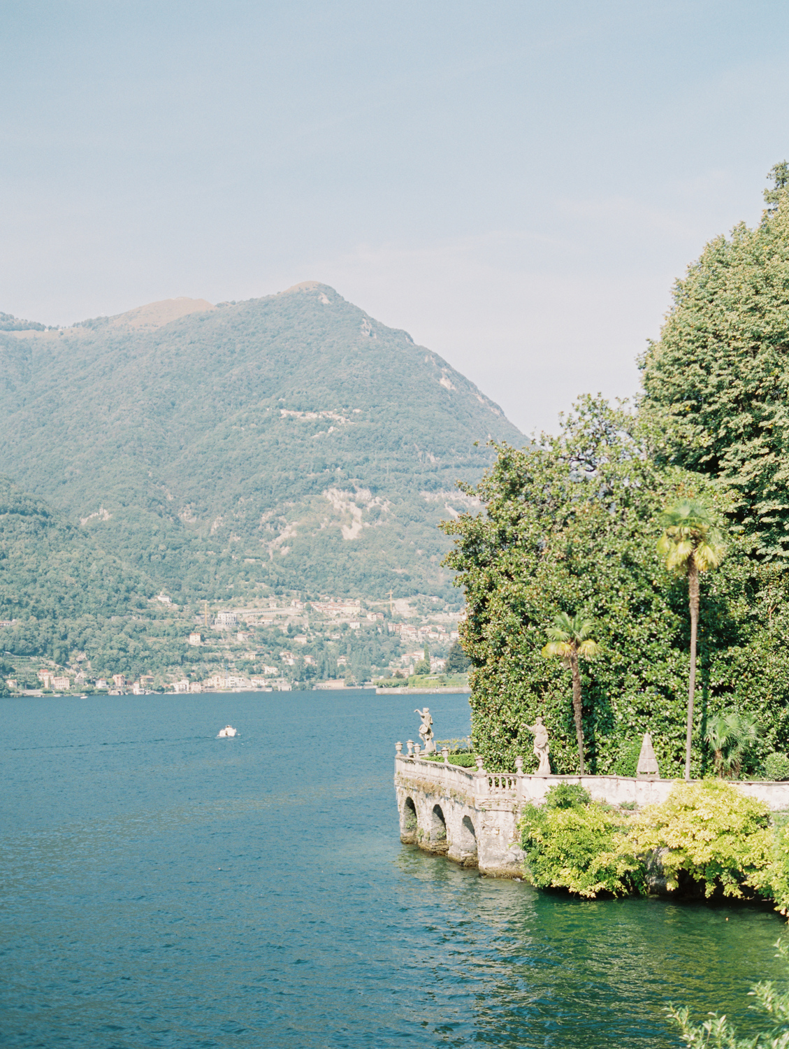 Photo of lago di Como landscape, mountain, boat