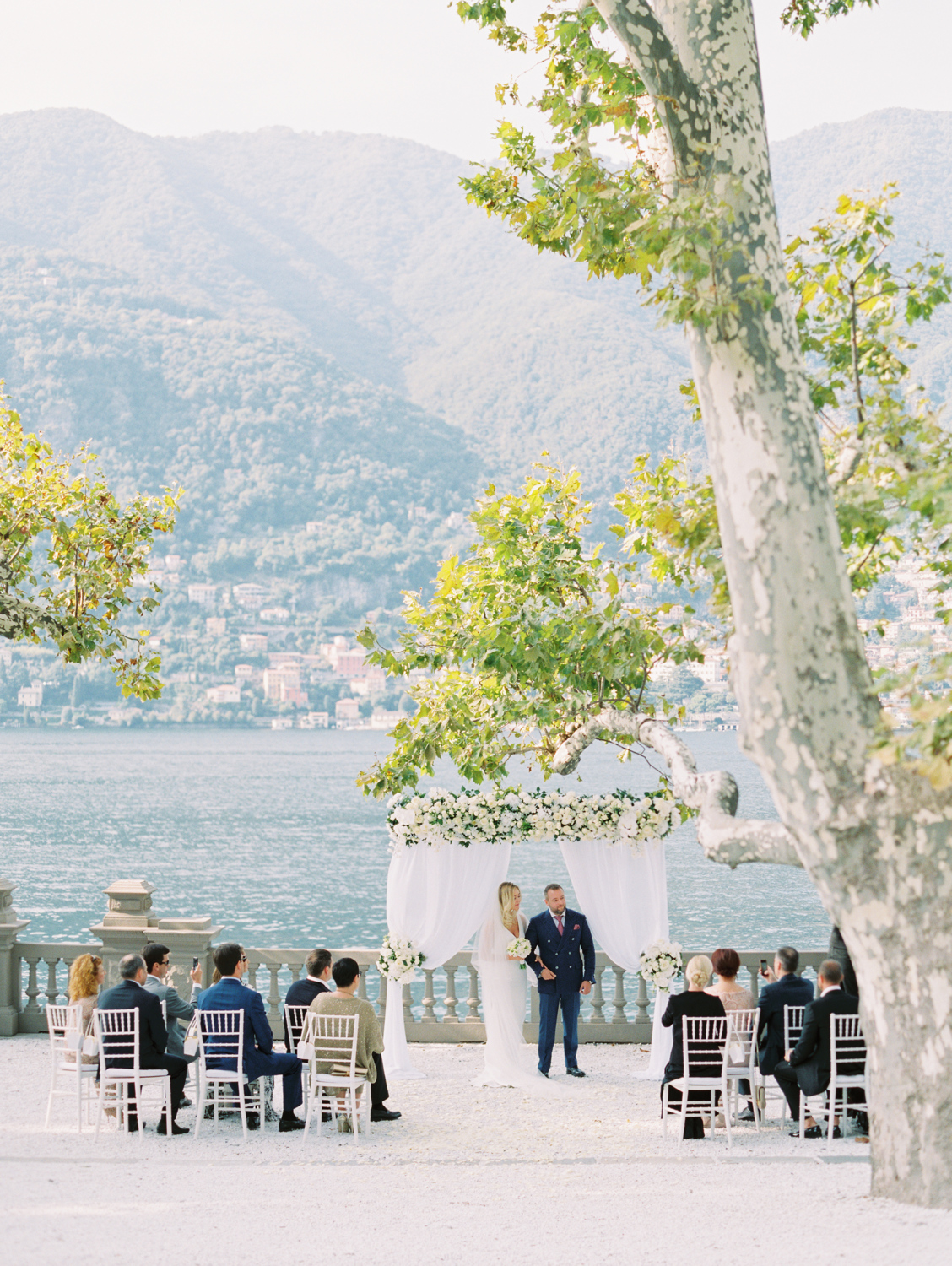 Lake como view wedding ceremony casadiva