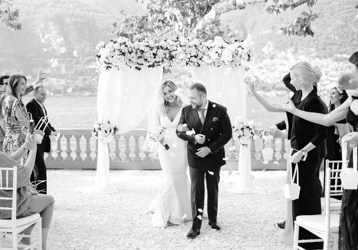 emotional BW wedding photo Lake Como by Julia Kaptelova