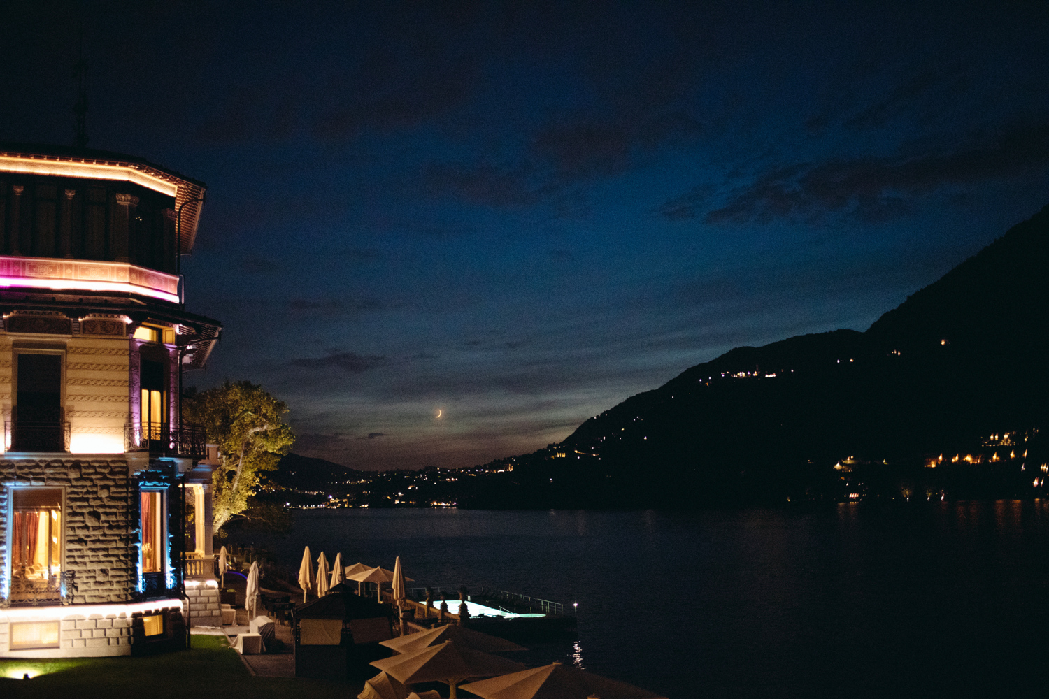 night castadiva resort lago di como