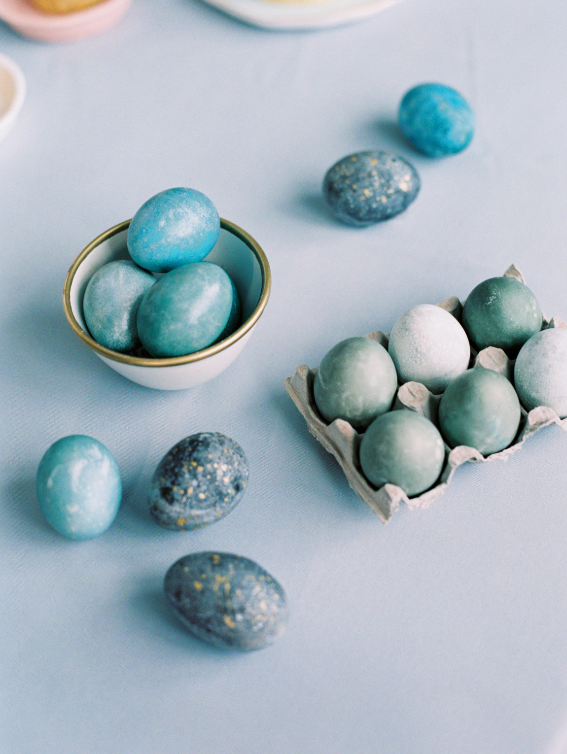 grey and blue easter eggs
