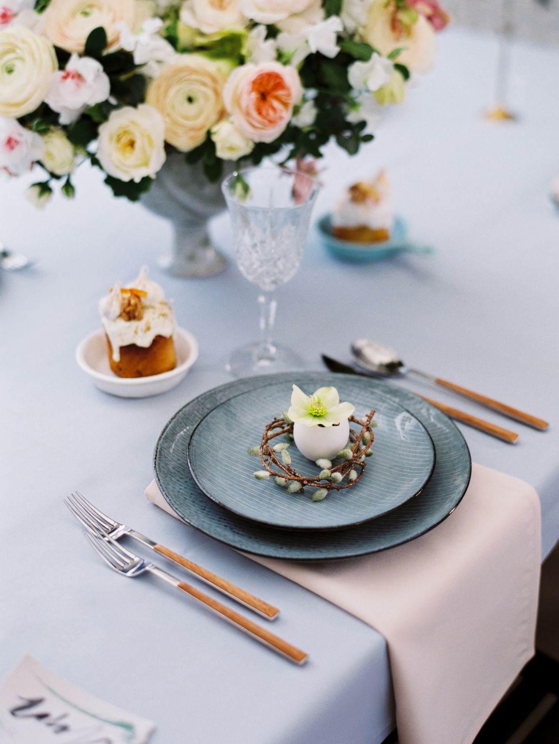 photo of beautiful table setting